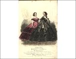 Evening gowns, 1859