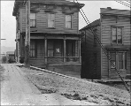 Boarding houses at 423 Cherry St. , Seattle, Washington, December 4, 1909
