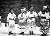 Women in costume, Slovakia (Slovak Republic), (former Czechoslovakia), circa 1930-1937