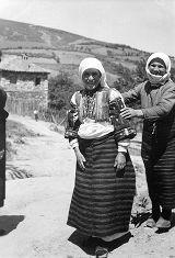 Women in costume, Smilevo, Macedonia (Southern Serbia, former Yugoslavia), circa 1930-1937