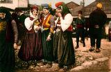 Women in costume, Sarajevo, Bosnia and Hercegovina (former Yugoslavia), circa 1930-1937