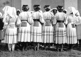 Women in costume from behind, Rečica, Croatia (former Yugoslavia), circa 1930-1937