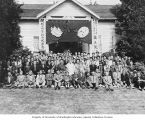 Members of Oregon Koyasan Buddhist Church in front of church, Oregon, June 17, 1962