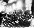 Interior of powerhouse showing second generating unit, April 17, 1904